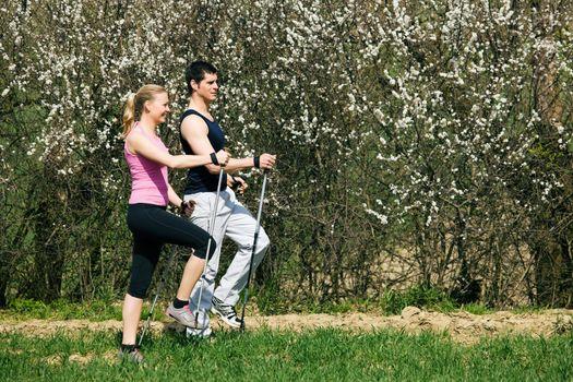 Nordic Walking in spring