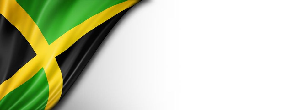 Jamaican flag isolated on white banner