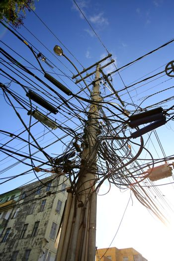 pole with excess wires