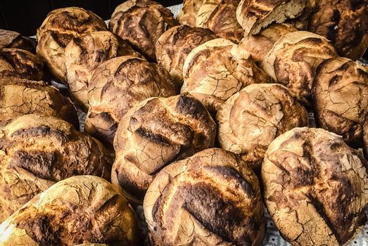 Loaves of traditional country bread