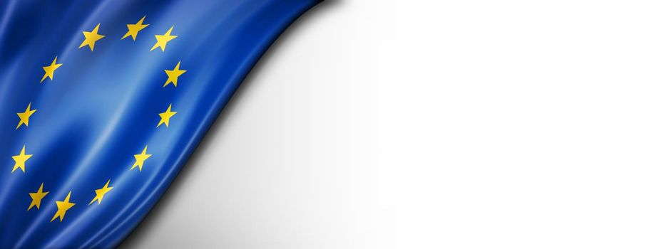 European union flag isolated on white banner