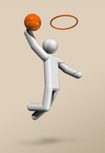 Basketball 3D icon, Olympic sports