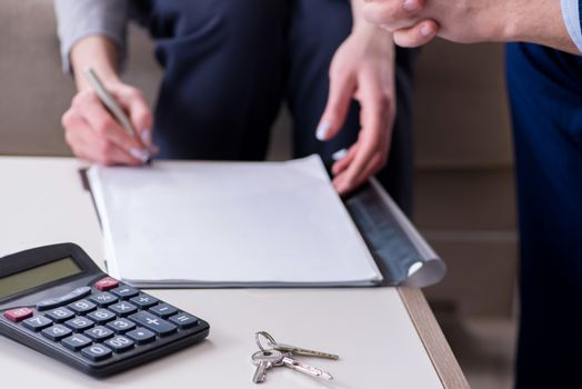 Mortgage agreement is being signed