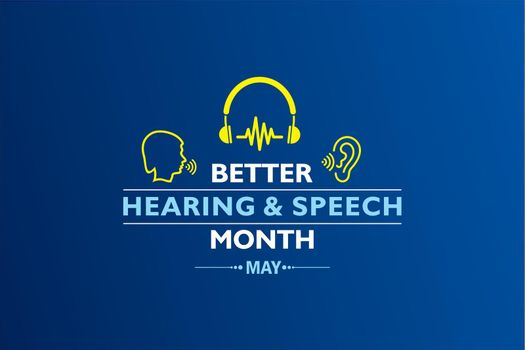 Vector Illustration of Better Hearing and Speech Month observed in May