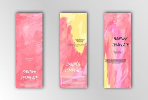 Abstract vector banner template. Illustration for the design of banners, posters, cards and visual content. Flat design