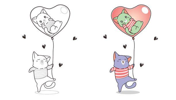 Cartoon coloring page