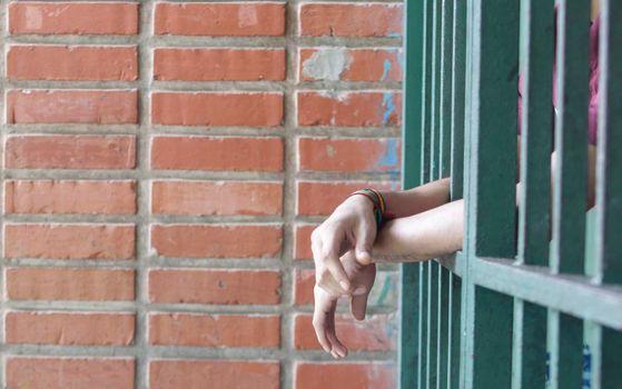 prisoner in police station