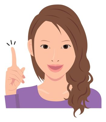 Young woman vector illustration / hand gesture and emotional face.