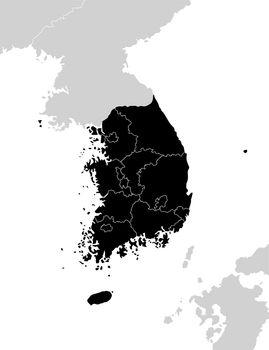 South korea administrative divisions map