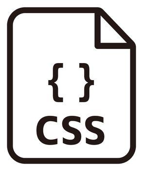 CSS icon | Major programming language vector icon illustration