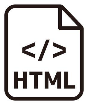 HTML icon   Major programming language vector icon illustration