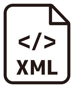 XML icon   Major programming language vector icon illustration