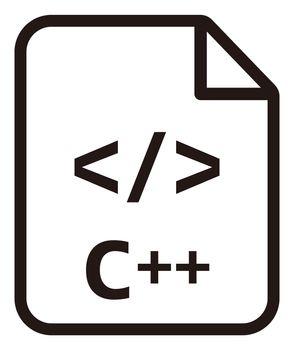 C++ icon   Major programming language vector icon illustration