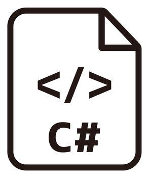 C# icon   Major programming language vector icon illustration