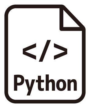 Python icon   Major programming language vector icon illustration