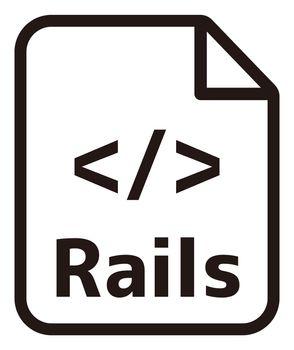 Rails icon   Major programming language vector icon illustration