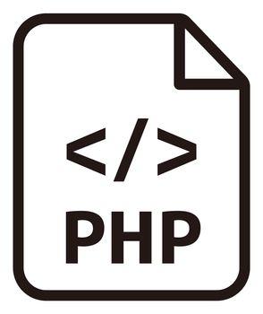 PHP con   Major programming language vector icon illustration