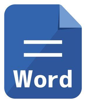 Word icon   Major file format vector icon illustration  ( color version )