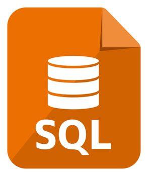 SQL icon   Major Database format vector icon illustration  ( color version )