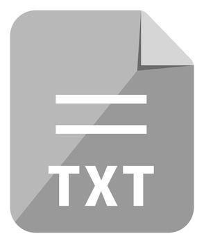TXT icon   Major file format vector icon illustration  ( color version )