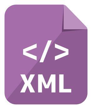 XML icon   Major programming language vector icon illustration  ( color version )
