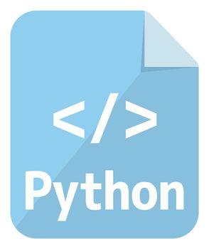 Python icon   Major programming language vector icon illustration  ( color version )