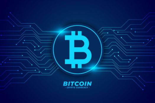 bitcoin technology background with circuit lines