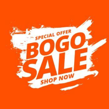 bogo buy one get one sale background