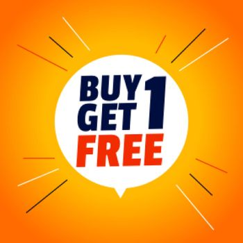 buy one get one free stylish sale banner