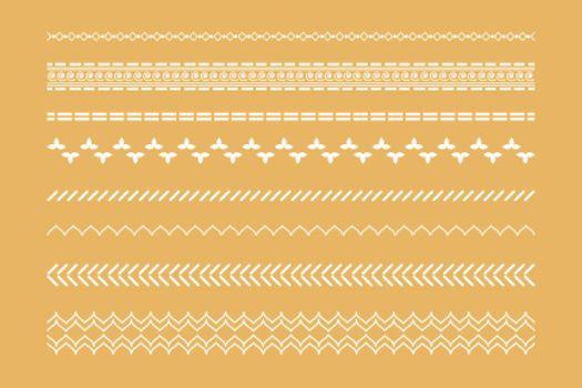 decorative boho ethnic borders set