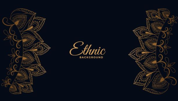 ethic indian style floral decorative background