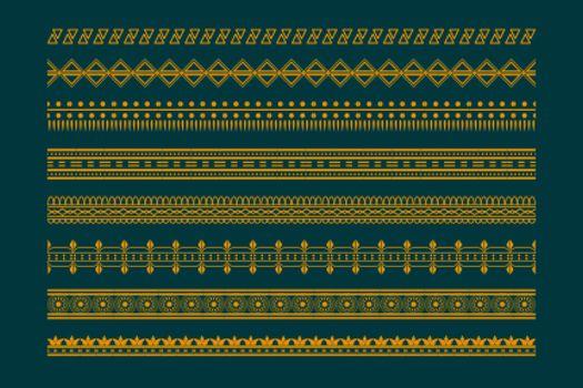 ethnic boho style borders pattern set