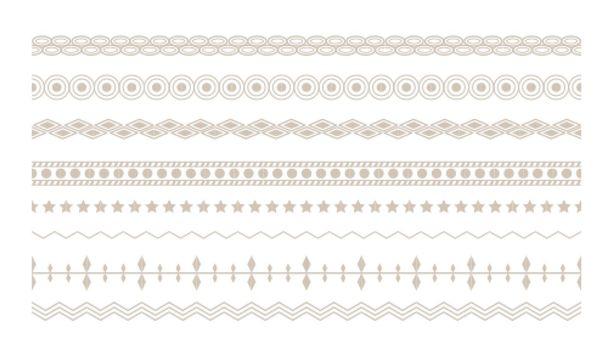 ethnic floral boho borders set design