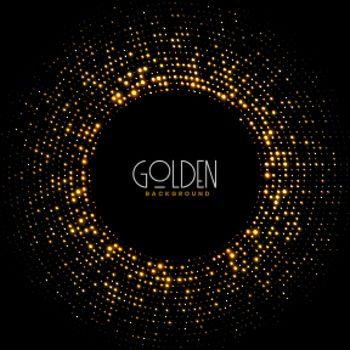 golden sparkles glitter frame background