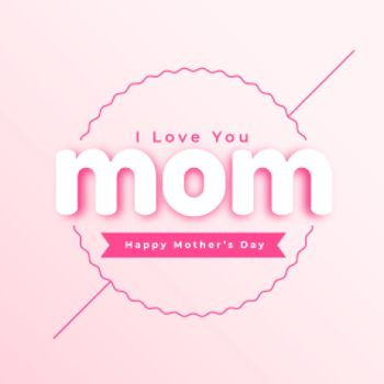 mothers day illustration in minimal style design