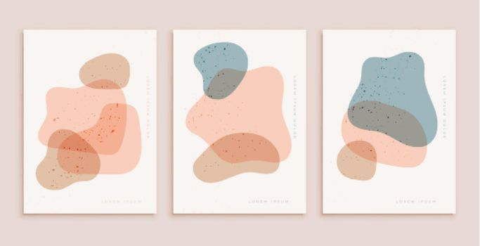 pastel colors poster template in contemporary aesthetic style