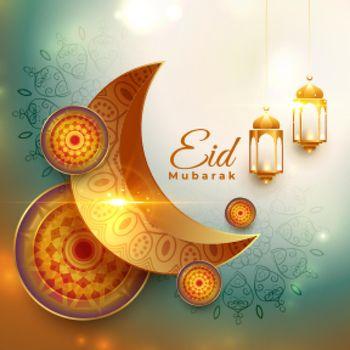 realistic eid mubarak traditional festival background