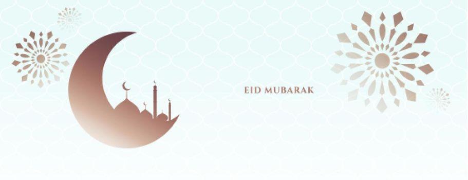 simple eid mubarak festival banner greeting design