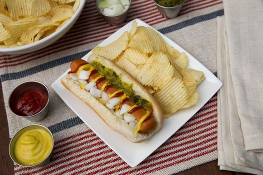 Veggie Dog with Toppings