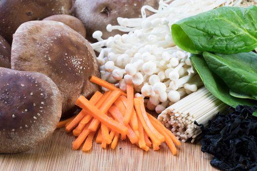 Vegan Udon Ingredients