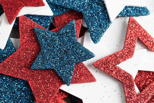 Close Up Patriotic Star Decorations