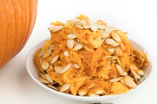 Preparing Pumpkin for Carving