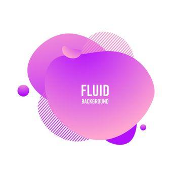 Fluid blod shape. Vector abstract modern graphic element. Memphis liquid gradient splash. Vivid gradient template