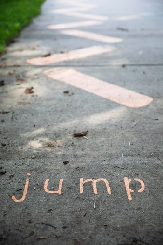 Jump Sidewalk Decoration