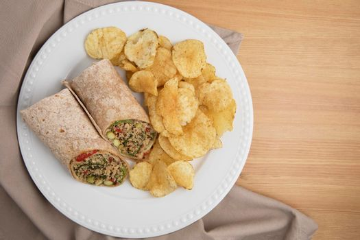 Veggie Wrap with Chips