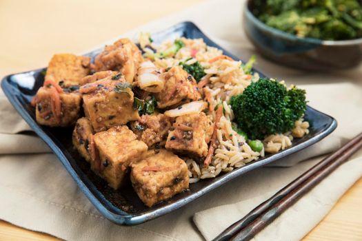 Fried Tofu and Rice