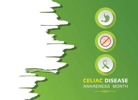 Vector illustration of Celiac Disease Awareness Month in May.