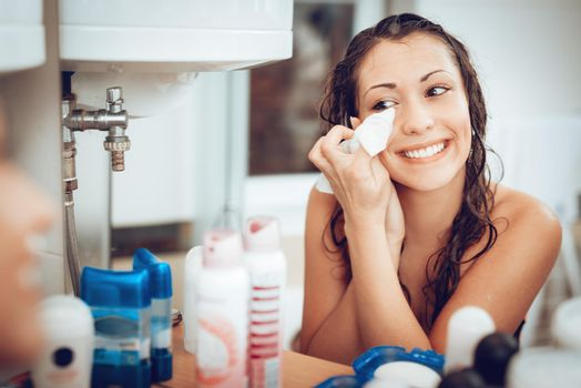 Girl Removing Make Up