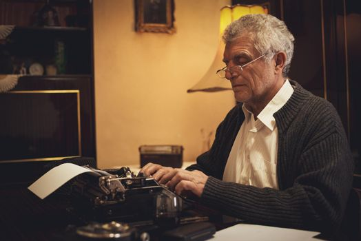 Retro Senior Man Writer