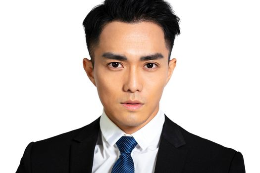 Close up Asian handsome young man face
